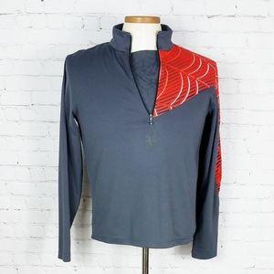 SPYDER Dry Web T Neck 1/2 Zip Sweater   Gray